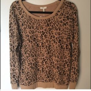 Joie leopard sweatshirt